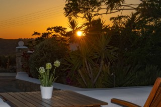 traditional double studio stavroula sunset view